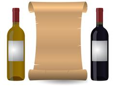 wine parchment - stock illustration