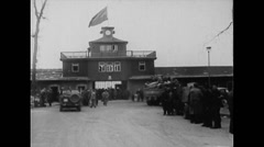 WW2 - German Concentration Camp Buchenwald - Overview 01 Stock Footage