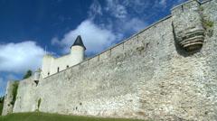 Chateau de Noirmoutier - Noirmoutier-en-l'Ile France Stock Footage