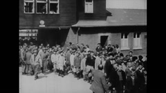 WW2 - German Concentration Camp Buchenwald - Survivors 1 Stock Footage