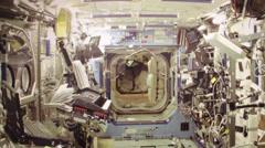 Attractive Interior design of a Ship NASA Space Ship Stock Footage