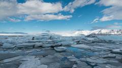 Glacier lagoon at Fjallsarlon Jokulsarlon, Iceland timelapse Stock Footage