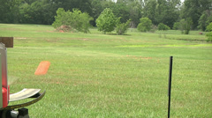 Sporting Clay Target Shot In Air Stock Footage