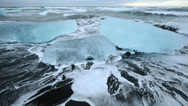 Stock Video Footage of Ice on the beach in Jokulsarlon Glacier Lagoon, Iceland