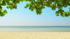 Deserted tropical beach. sihanoukville, cambodia Stock Footage