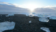 Stock Video Footage of Gliding on the glacier ice beach in Jokulsarlon, Iceland