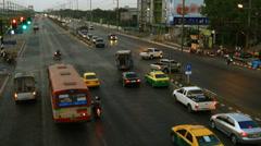 Intersection crossroads traffic jam Stock Footage