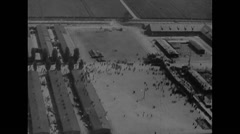 Stock Video Footage of WW2 - German Concentration Camp Dachau - Overview 02