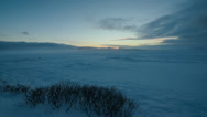 Stock Video Footage of Sunrise on snow in Iceland