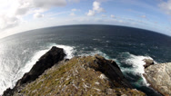 Stock Video Footage of Mizen Head Pennsula and Atlantic Ocean, County Cork, Ireland