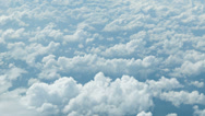 Stock Video Footage of view from the airplane. clouds at a height of several kilometers