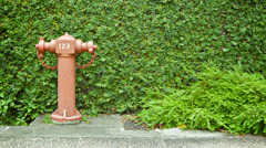 Fire hydrant on a city street. singapore Stock Footage