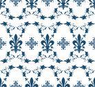 Stock Illustration of seamless blue royal vector texture with fleur-de-lis for vintage design
