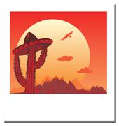 travel photo frame - go mexico, vector illustration - stock illustration