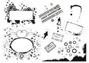 Stock Illustration of set of vector grunge elements