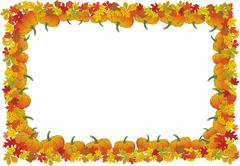 Thanksgiving day autumnal vector frame for your design Stock Illustration