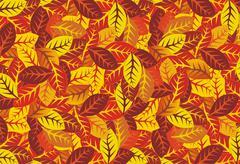 Autumn leaves  background, vector illustration Stock Illustration