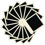 Circle stack of blank polaroids, vector illustration Stock Illustration