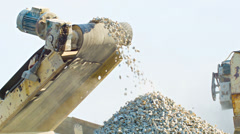 Working mechanism of stone crusher Stock Footage