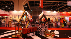 Hong Kong Convention and Exhibition Center during Fall Winter Fashion Week Stock Footage