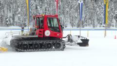 Snowcat 03 Stock Footage