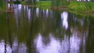Stock Video Footage of Rippled surface of pond or river