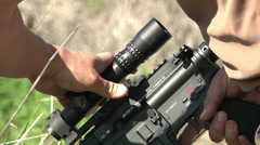 Heckler and Koch A1 Assault Rifle and Scope Stock Footage