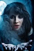 Vampire Girl - stock photo