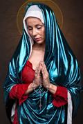 Virgin Mary crying blood - stock photo