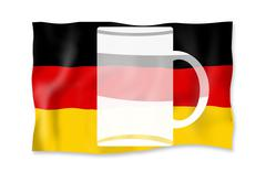 Germanys true national flag fresh funny design Stock Illustration