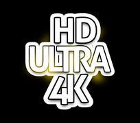 Ultra hd 4k symbol fresh design Stock Illustration
