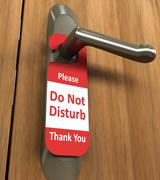 Do Not Disturb - stock photo