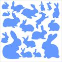 Stock Illustration of Rabbits Vector Digital Clipart