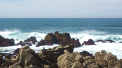 Rocky coast off northern California Stock Footage