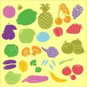 Stock Illustration of Fruit Vegetables Vector Digital Clipart