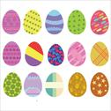 Stock Illustration of Easter Eggs Vector Digital Clipart