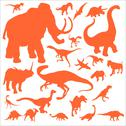 Stock Illustration of Dinosaurs Vector DIgital Clipart