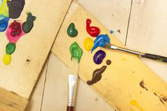 Paintbrushes and Paint - stock photo