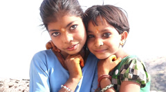 Indian children. India. Radzhastan.Udaypur Stock Footage