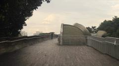 Singapore - wide shot of the henderson waves bridge Stock Footage
