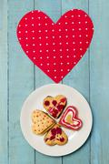 Hearts and sweets - stock photo
