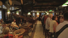 a scene at the singapore long bar - stock footage