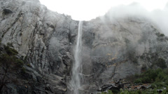 Bridalveil Falls in Yosemite National Park Stock Footage