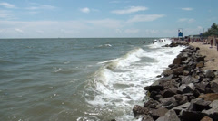 Marine waves hurrying ashore Stock Footage