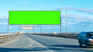 Stock Video Footage of billboard green screen