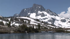 Banner Peak and Stream Stock Footage