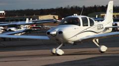 0958 Lentokone Airport matkalla Runway Arkistovideo
