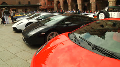 Lamborghini car show in Bologna Stock Footage