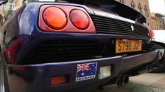 Australian Lamborghini at Italian car show - stock footage