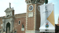 America's cup world series in Venice Stock Footage